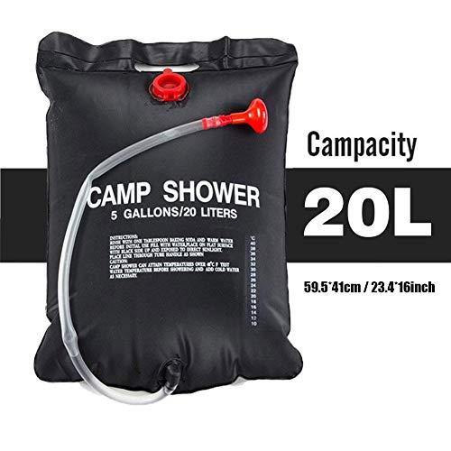Camping Dusche,5 Gallons/20L Mobile Camping Dusche Mit Abnehmbarem Schlauch Und Duschkopf, Campingdusche Solar-Duschtasche Für Klettern, Wandern, Angeln, Jagd, Strandausflüge