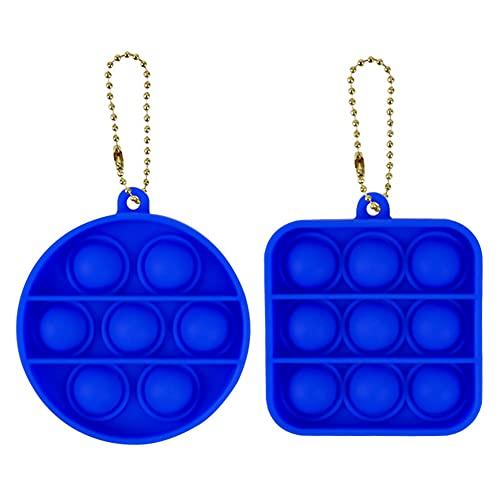 TISESIT INDOOR Juguete Antiestrés Sensorial De Silicona para Voltear Juguete Llavero Juguetes De Descompresión De Juguete Que Son Fáciles De Llevar Juguetes De Mano para Aliviar El Estrés,Azul