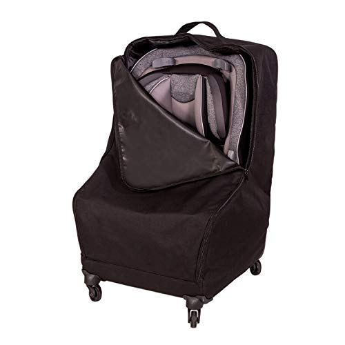 J.L. Childress Spinner Wheelie Deluxe Car Seat Travel Bag, Black