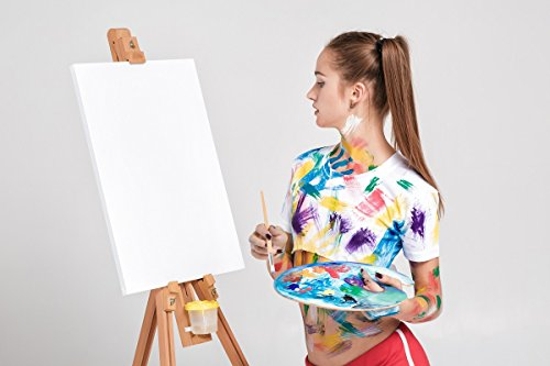 bestpricepictures 80 x 60 cm weiße Leinwand zum Bilder selber Gestalten oder Bemalen 4005-SCT deutsche Marke und Lager - fertig gerahmt