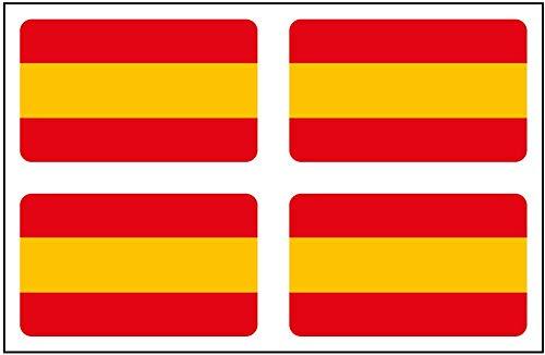 Artimagen Pegatina Bandera Rectángulo 4 uds. España 30x18 mm/ud.