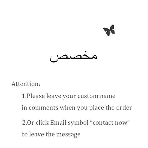 EDCV ketting met vlinder voor vrouwen RVS aangepaste gepersonaliseerde kettingen gouden kleur Choker hanger ketting, Arabisch