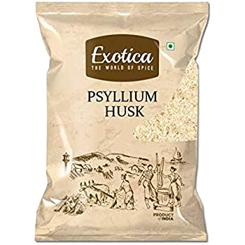 Exotica Natural Psyllium Whole Husk | Sat Isabgol (Bhusi) Husk - 400 Grams Fiber Supplement - Perfect for Keto Bread and Gluten Free Baking