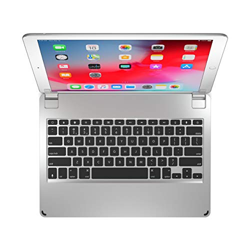 Brydge 12.9 Keyboard for iPad Pro 12.9-inch   2017/2015 Models only   Aluminum Bluetooth 4.2 Wireless Keyboard with Backlit Keys   Long Battery Life   Silver