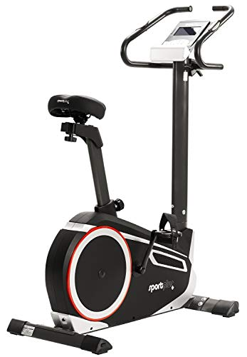 SportPlus - Vélo d'appartement / Ergomètre - Google Street View - Mesure puissance Watt - Roue...