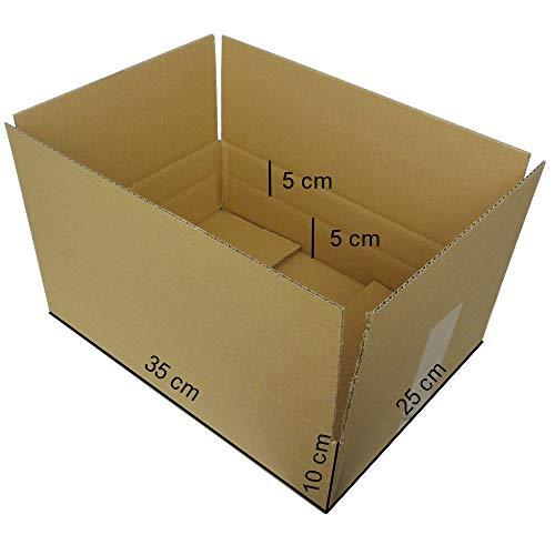25 Stück Faltkartons Versandkartons optimiert für den DHL Päckchenversand S bis 2kg Aussenmaß: 350x250x100 mm