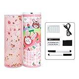 JIUYECAO Boîte de papeterie intelligente pour étudiant, 21 crayons avec mot de passe et miroir intégré, calculatrice amovible et effaçable