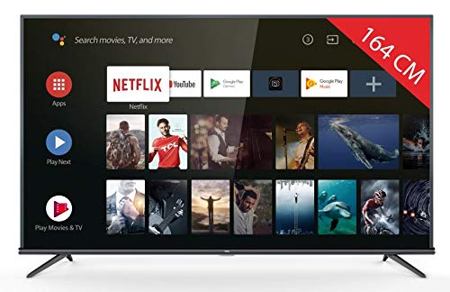 TV LED 4K 164 cm TCL 65EP663 - Televisor LCD de 65 pulgadas - TV conectada: Smart TV - Android TV - Netflix - Sintonizador TNT/cable/Satellite