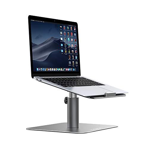Yoozon Laptop Ständer, Multi-Winkel 360°Höhenverstellbar Notebook Ständer Universal Haterung für Apple Macbook,Tablet, Dell, HP, Samsung, Lenovo und alle 9-15 Zoll Notebooks (Silbergrau)
