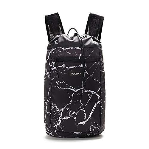 Vooray Stride Cinch - 13L Drawstring Backpack/Sackpack (Black Marble)