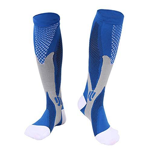 SANGSHI Calcetines de compresión para correr, calcetines de compresión, calcetines de compresión, calcetines de compresión para hombres y mujeres, deportes, fútbol, ciclismo, calcetines elásticos