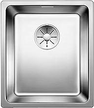 BLANCO Andano 340-IF, keukenspoelbak voor normale en vlakke inbouw, inbouwspoelbak, met InFino-afvoersysteem, roestvrij st...