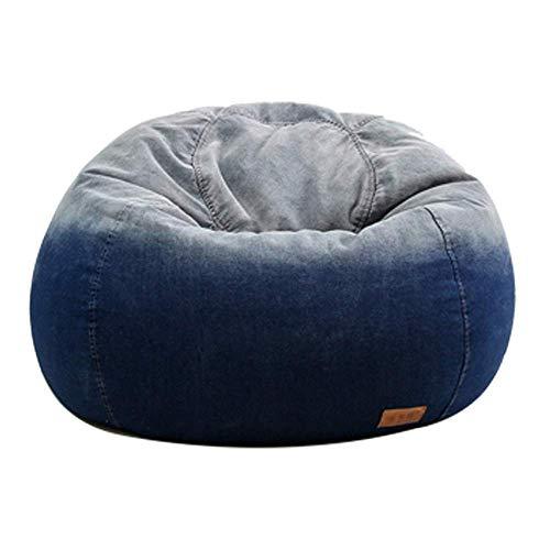 YO-TOKU Living Room stoelkussens, zitzak Memory Foam Furniture Bean Bag - Big Bank met zachte microvezel Cover for Ontspannende Gaming Lounging (Kleur: Blauw, Maat: 90 * 90 * 64cm) Stoelen Living Room