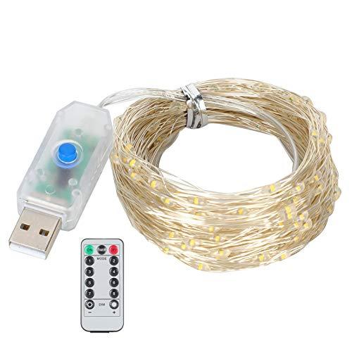 Aoutecen Lámpara de Cadena LED Impermeable Control Remoto de Baja presión Cadena de Luces Suministros de iluminación Decorativos para Exteriores para decoración de Habitaciones