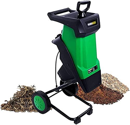 FASSTUREF Trituradora trituradora de Madera, trituradora de Ramas de Hojas de Madera Multifuncional Ultra silenciosa Herramienta de jardín con Caja colectora de 50 l