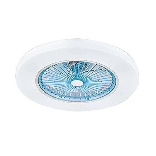 Yaseking Ventiladores de techo Luz con control de aplicaciones o control remoto para sala de estar Dormitorio Decoración Iluminación 110V / 220V Wi-Fi Fan de sueño profundo Lámpara