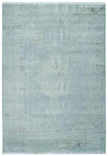 Casa Padrino Wohnzimmer Teppich Vintage Mintfarben - Verschiedene Größen - Rechteckiger Acryl Teppich im Vintage Look, Grösse:200 x 290 cm