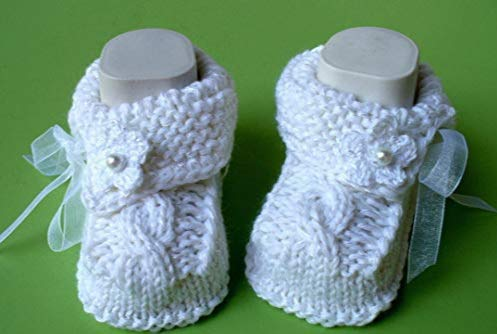 Babyschuhe Tracht Landhaus Taufschuhe gestrickt