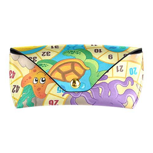 XiangHeFu Pu-leder ozean meer meeresflora und -fauna brettspiel tragbare brillen beutel brillen tasche multiuse sonnenbrille fall niedlich