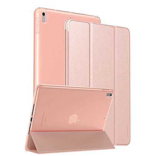 SmartDevil Funda para iPad Air 10,5 2019 y iPad Pro 10,5 2017 con Tapa Inteligente y Reverso Translúcido, Delgada Ligera Funda para iPad Air 3 con Soporte Función y Auto Sueño/Estela Oro Rosa
