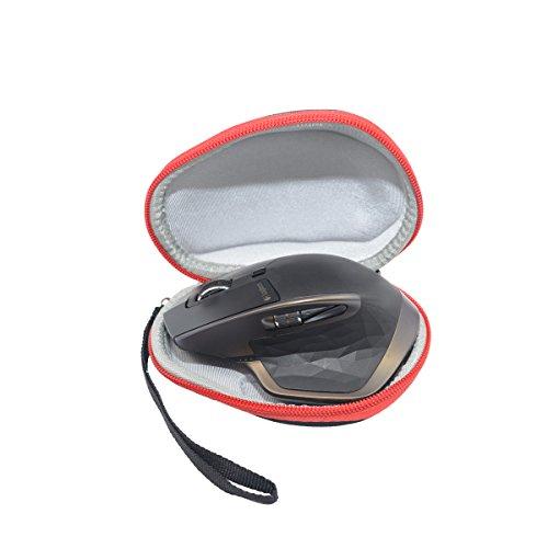 Sanvsen Duro Viajes Caso Cubierta para Logitech MX Master/Master 2S Ratón inalámbrico con Bluetooth (Rojo)