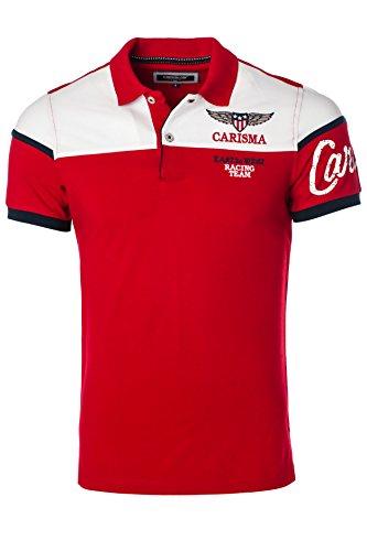 CARISMA Casual Herren Poloshirt Kurzarm 4539, Red, XL