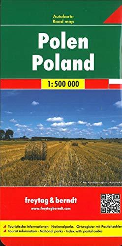 Polen, Autokarte 1:500.000: Touristische Informationen, Nationalparks, Ortsregister mit Postleitzahlen (freytag & berndt Auto + Freizeitkarten)