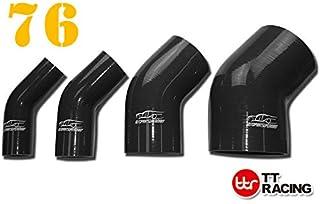 Gaoominy 24 Pouces Flexible superieur//inferieur kit de Tuyau de radiateur de Voiture et Acier Inoxydable avec Capuchon Chrome