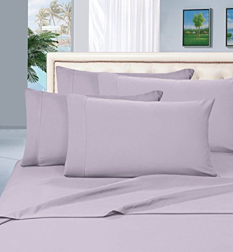 Elegant Comfort Luxurious Pillowcases on Amazon 1500 Thread Count Wrinkle,Fade and Stain Resistant 2-Piece Pillowcases- Hypoallergenic, Standard Size - Lilac