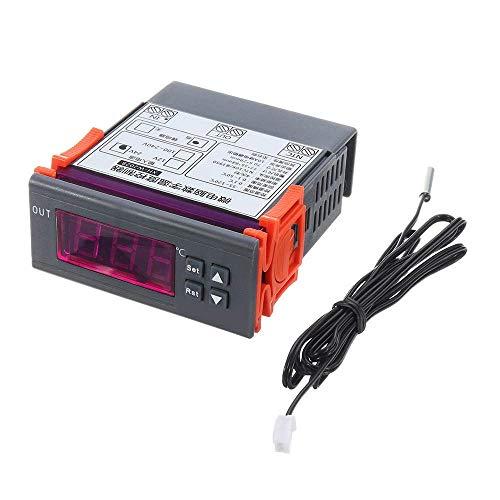 GUOSHUCHE DC12/DC24V/AC220V termostato digital integrado para frigorífico, controlador de temperatura digital especial industrial con precisión 0.1 (tamaño: DC12V)