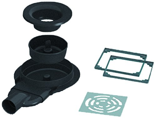 Lazer 352015 Siphon de sol sortie horizontale extra-plat pour receveur de douche prêt à carreler