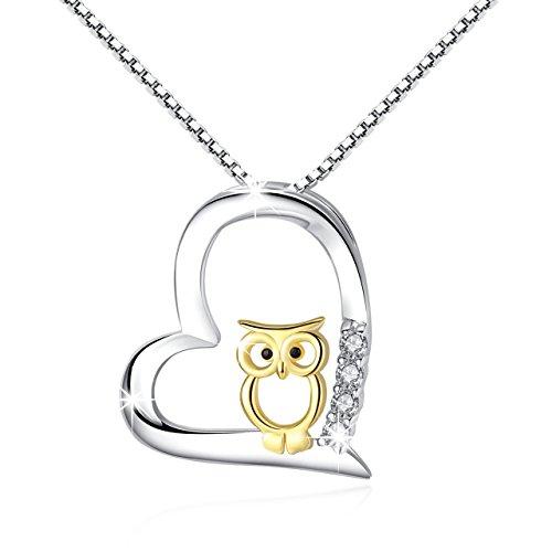 Plata de Ley 925 Collares Mujer Plata de Ley Love corazón Colgante Joyería Mujer Niña Joyas Para Mujeres cumpleaños regalos para novia hija