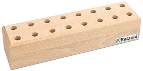 Betzold Scherenständer, für bis zu 16 Scheren - Aufbewahrung Bastelscheren Kinder Kinderscheren Schule Kindergarten Scheren Holzständer Scherenhalter Scherenbox Holzbox Malbox Bastelbox Bastelscheren