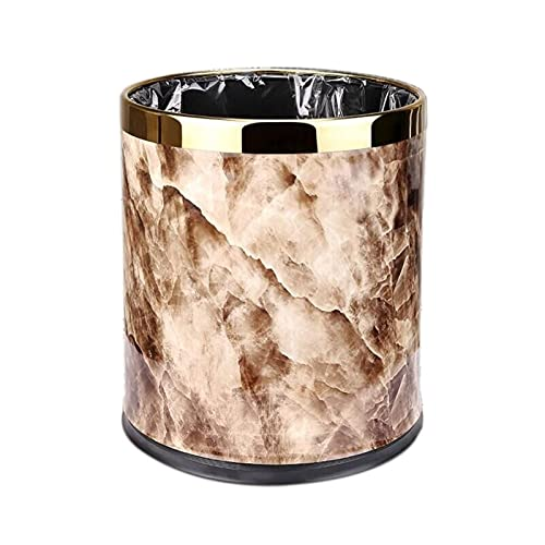 WYDA Contenedor de Basura Capacidad de Basura Redonda de Doble Capa de Acero Inoxidable, 2.6/3.9 Capacidad de galón, baño para Uso doméstico Cocina de baño Bandeja de Basura Basura Cubo de Basura