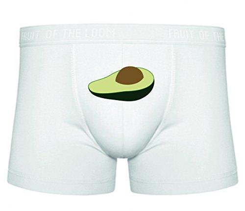 Druckerlebnis24 Boxershort Avocado- Obst- REIF- FRISCH- Schnitt- EINZELNEN SAMEN- ERNÄHRUNG- NAHRHAFTE- ROH- LECKER- Bio- NACHSPEISEN S- XXL Sexy Unterhose Slip Shorts
