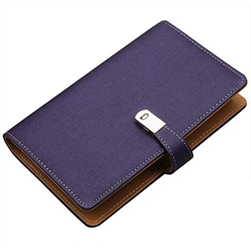 Business Name Card Case Magnetic Buckle Business Card Holder Large Capacity Business Card Thin, Logo Custom Lettering, Can Hold 240 Business Cards Professional Business Card Case (Color : Purple)