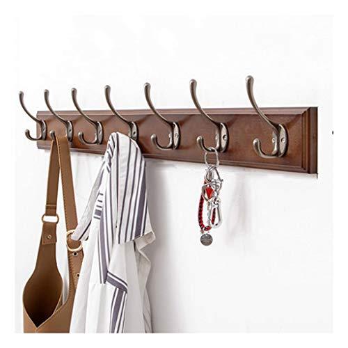 OMYLFQ Cuelga de la Pared de la suspensión de bambú, con 6 7 8 Ganchos Retro Ganchos de Metal Cubierta de Capa Colgante, Muy Adecuada para la Sala de Estar del Dormitorio del Corredor (Size : 7hooks)