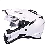 T-Clint Casco Motocross Enduro Dual Sport Touring/Adventure Casco Moto Full Face Casco Moto Moto Integrato Modulare Flip Up DOT ECE Certificazione Double Mirror (M,L,XL,XXL)