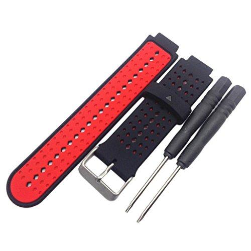 Pulseira de relógio Homyl de silicone, pulseira de substituição de silicone macio para relógio inteligente Garmin Forerunner 235/220/230/620/630/735