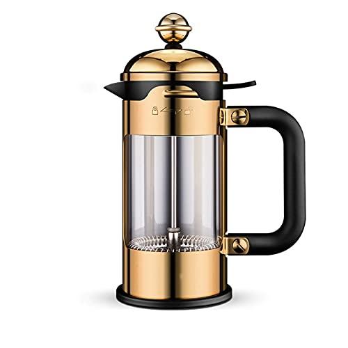 Ręczny młynek do kawy Ekspres do kawy, żaroodporne szkło borokrzemianowe, Ręczny młynek do kawy ze stali nierdzewnej Francuski ekspres do kawy Filtr do kawy Prasa ręczna ze stali nierdzewnej