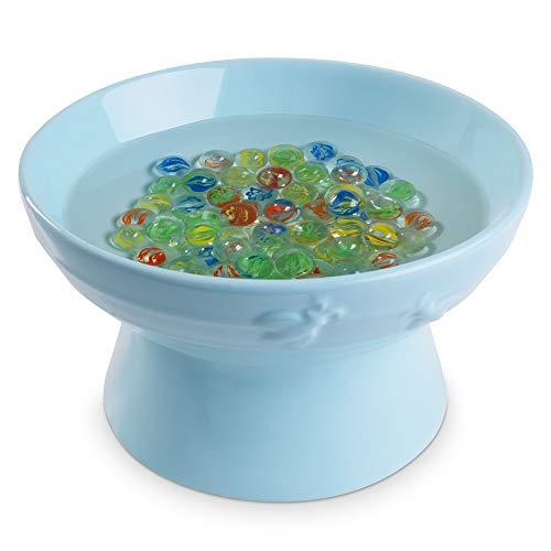 Navaris Fuente para Abejas - Bebedero de cerámica para alimento de Abeja Mariposa Insectos - Accesorio de Apicultura para el jardín con 80x canica