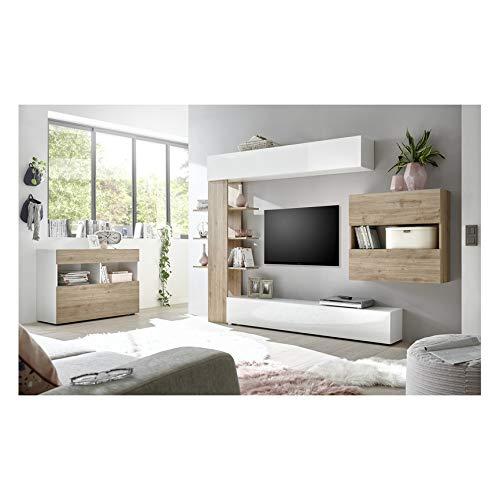 AZURA HOME DESIGN Ensemble Meuble TV Celio chêne 295 cm