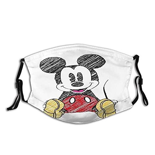 Mascarilla facial para mujeres y hombres, anime Mickey Mouse (Mickey)...