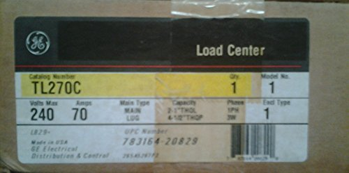 Lot of 5 GE Loadcenters #TL270C, 1pole, 120/240vol, 5 circuit indoor, 70 Amp MLO