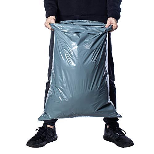 Stora postpåsar av Calzette extra starka polyeten grå postkuvert för förpackning kläder paket självtätande poly förvaringsväska 55 x 76 cm (22 x 30 tum) postpåse förpackning