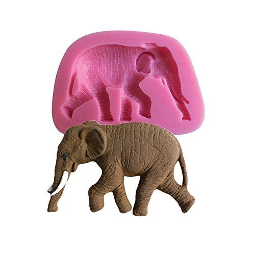 Moule silicone 3D éléphant pour pâte à sucre, cake design, décoration gateau...