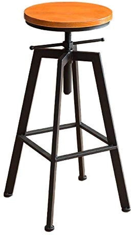 Xueshengshangmaoo Chair - Retro Iron Chair Lift Bar Chair Household Bar Stool Bar Counter Coffee Shop High Chair Bar Counter Chair Restaurant Shop Leisure Chair Adult Home Stool Bar Stool Indoor Outdo