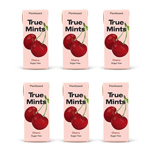 True Mints - 6er SET   KIRSCHE   Pflanzliche und zuckerfreie Pastillen, 6 x 13g, 78 g