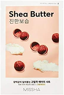 Missha Airy Fit Sheet Mask (Shea Butter - Deep Moisture) 7 pcs