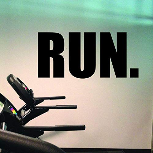 ZJfong Gym Vinyl muur Stickers Run Muursticker hardlopen muur Fitness Decor Loopband Training Modern Home Decor 26x57cm
